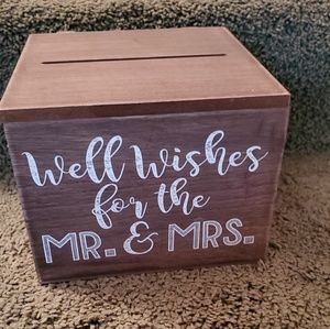 Wedding Advice box with slips & banner